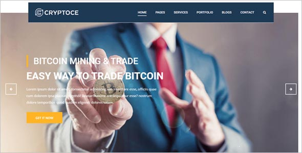 Bitcoin & Cryptocurrency HTML Template