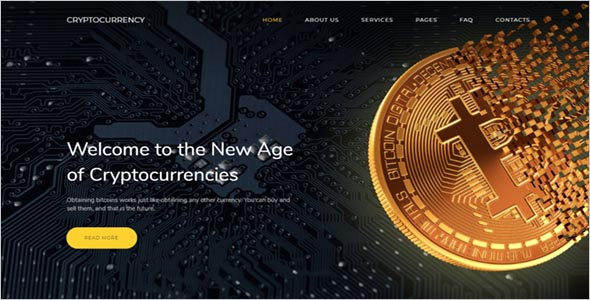 Bitcoin Cryptocurrency Template