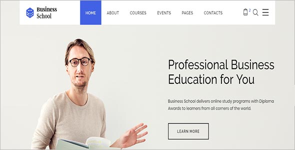 Business School e learning HTML Template