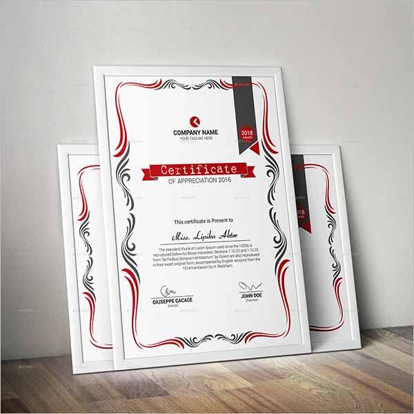 Certificate Design EPS