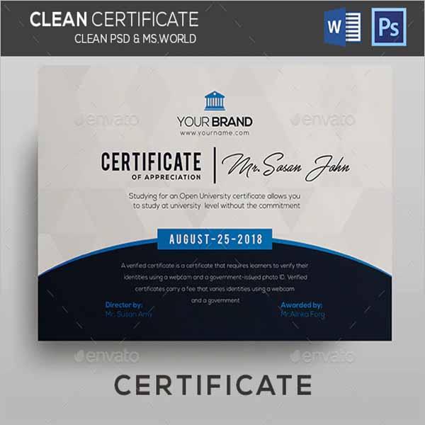 Certificate Design PSD