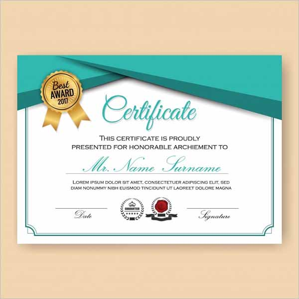 Certificate Design Template Free Download
