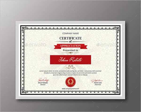 Certificate Frame Template