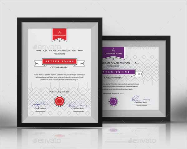 Certificate InDesign Template