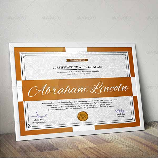 Certificate Template Photoshop