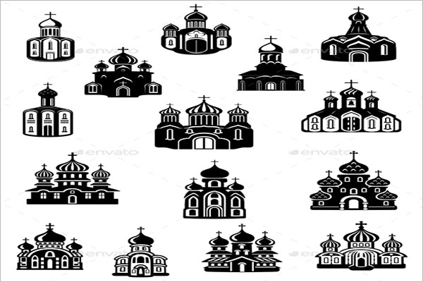 Church Building Icons