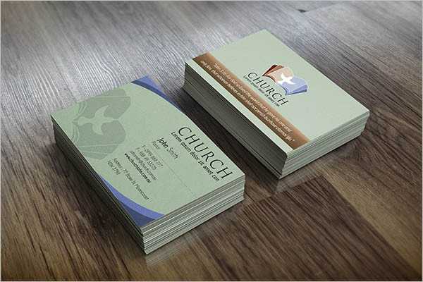 Church Business Card Template Free Download