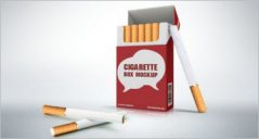 21+ Cigarette Package Mockup