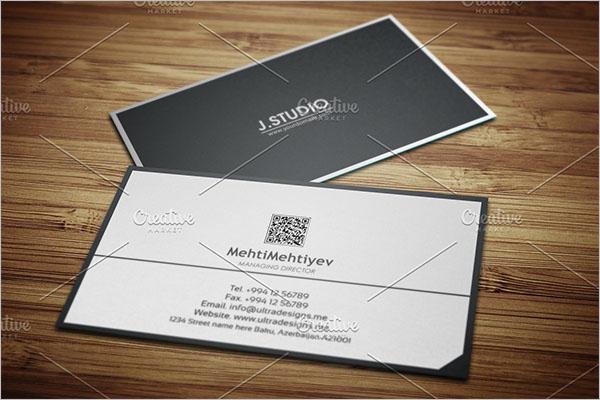 Clean QR Code Business Card Design