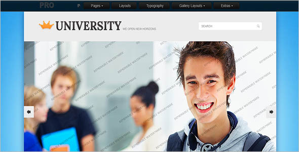 College Academic Website Theme