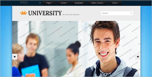 College Academic Website Theme