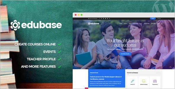 College Event WordPress Website Theme