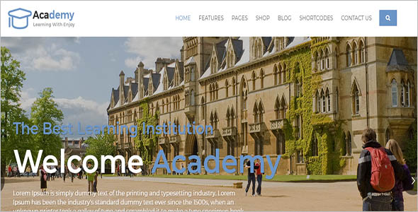 College Landing Page Website Theme