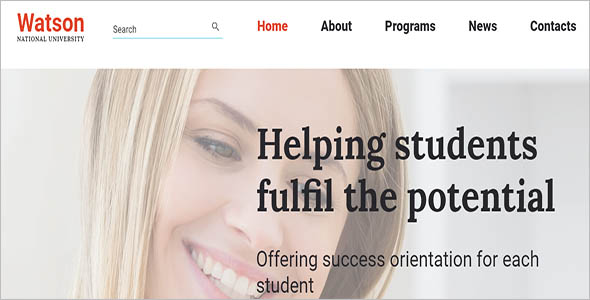 College Website Bootstrap Template