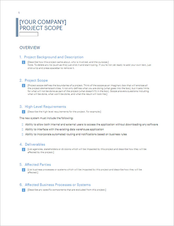 Company Report Business Template
