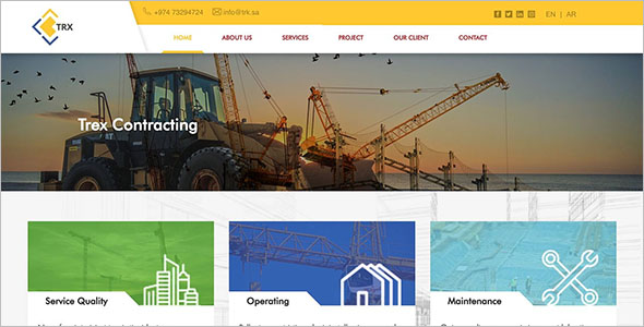 Construction HTML PSD Template