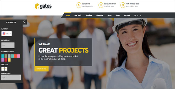 Construction Website Shopify Theme