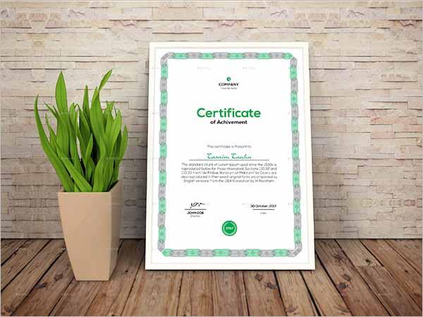 Coreldraw Certificate Template