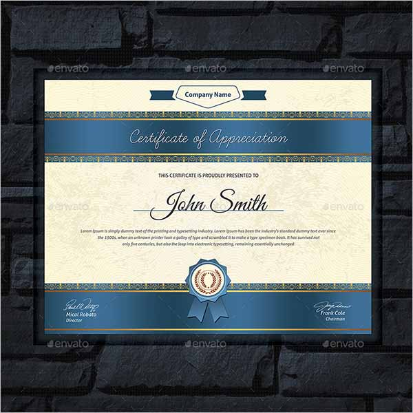 Corporate Certificate Design