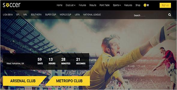 Creative Football WordPress Theme Download