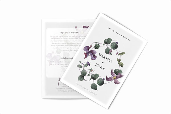 Creative Funeral Booklet Templates