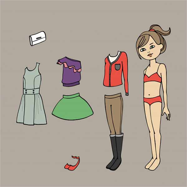 Creative Paper Doll Template