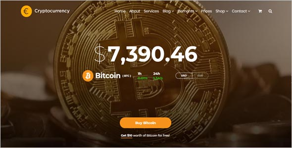 Cryptocurrency Editable Template