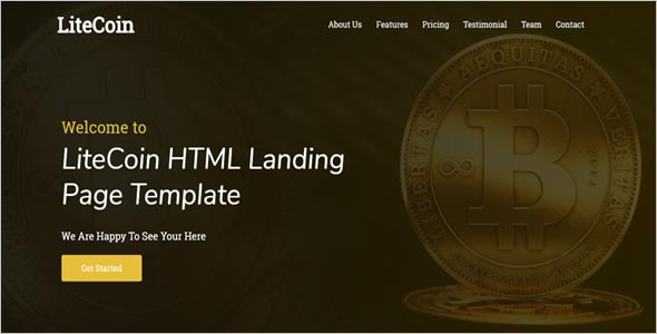 Cryptocurrency HTML Landing Page Template