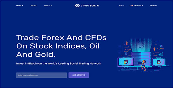 Cryptocurrency HTML Theme