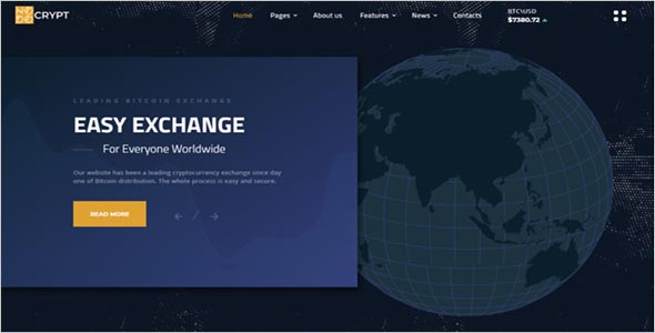 Cryptocurrency Trading Html Template