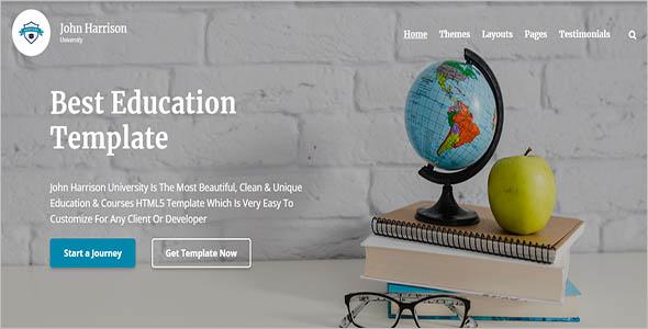 Customizable College Website Theme