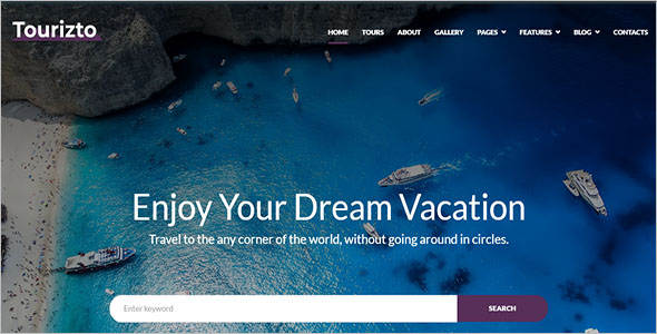 Customizable Tour WordPress Theme