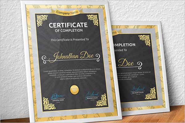 Decorative Certificate Design