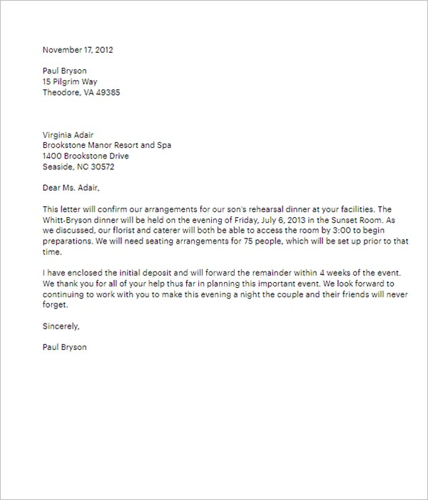 Download Business Formal Letter Template