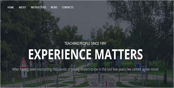 Driving School HTML Template