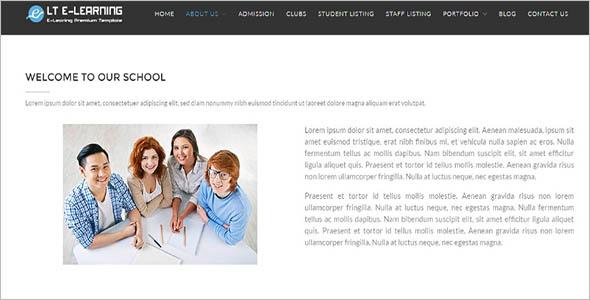 E-Learning School WordPress Theme