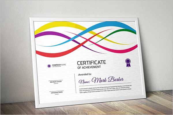 EPS Certificate Design
