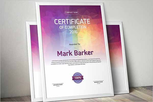 Editable Certificate Design