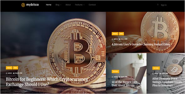Efficient Cryptocurrency HTML Theme