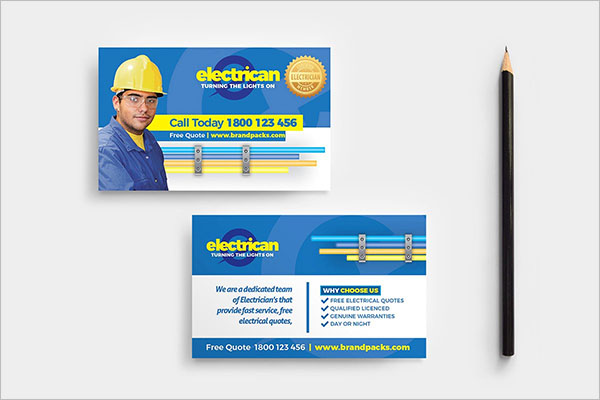 Electrician Business Card Model