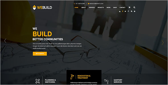 Engineering Building HTML Template