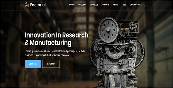 Factorial Engineering HTML Template