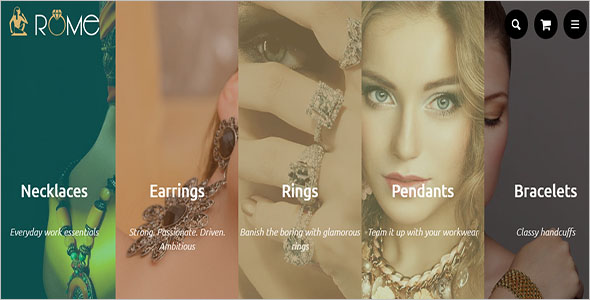 Fashion Jewelry Ecommerce Shopify Theme