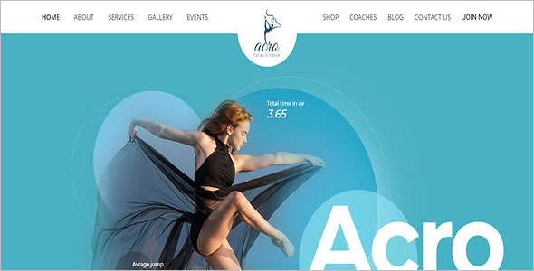 Fitness Academy HTML Template