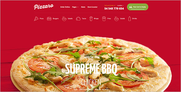Food Store Shopify Website Theme
