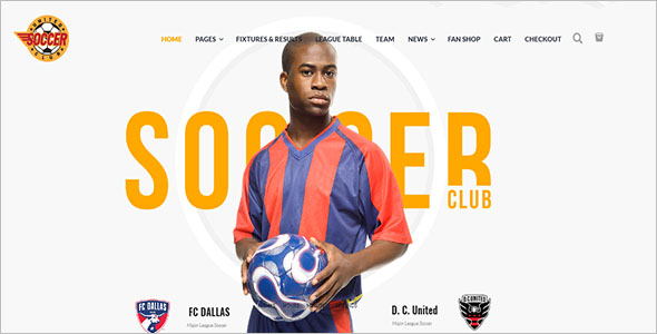 Football Club WordPress Theme Free Download