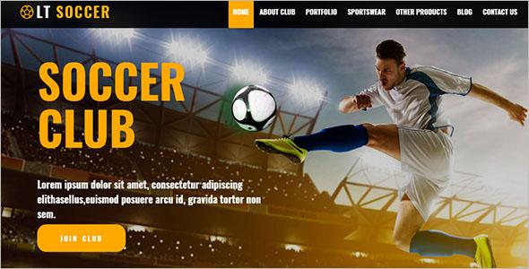 Football Players Woprdpress Theme