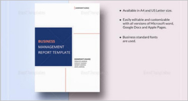 formal business report templates free word pdf example format
