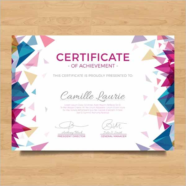Free Certificate Design Template