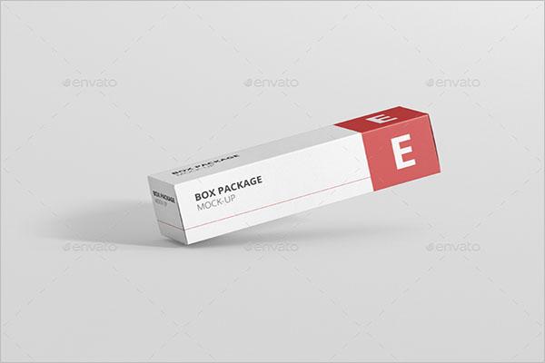Free Medical Long Box MockUp